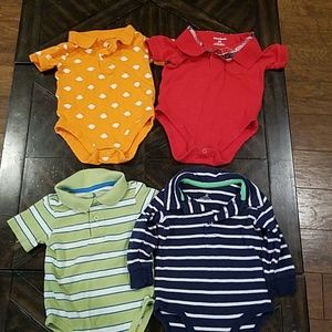Collared 12 month onesies